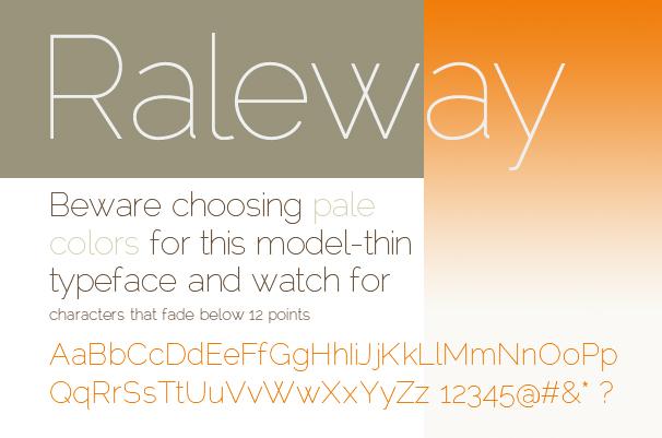 Dimmi che font usi e ti dirò chi sei: Raleway