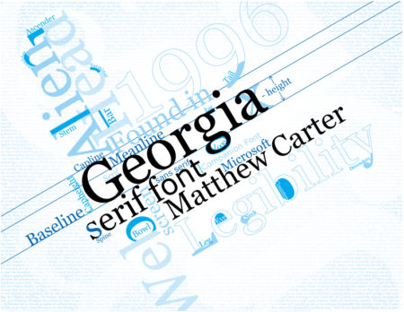 Dimmi che font usi e ti dirò chi sei: Georgia